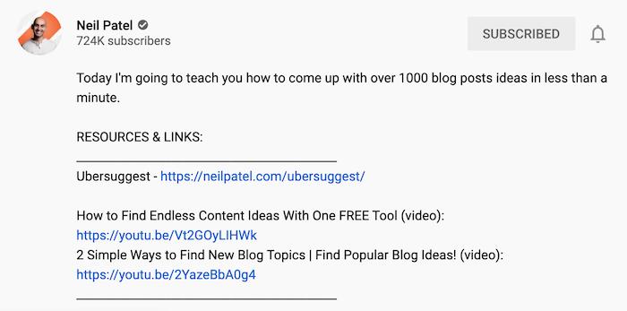 9 formas de mejorar el alcance orgánico a través del algoritmo de YouTube: optimización de la descripción de video