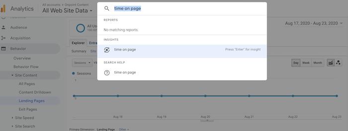 tiempo de permanencia frente a tiempo en métricas de página para SEO