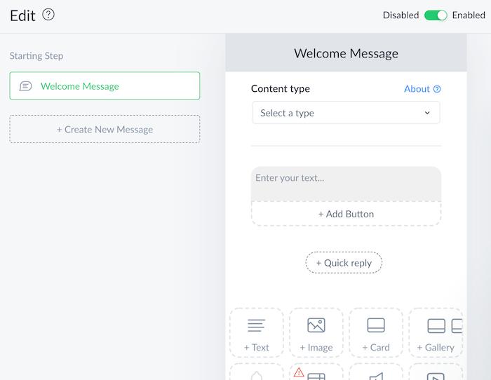ejemplo de un chatbot de comercio electrónico