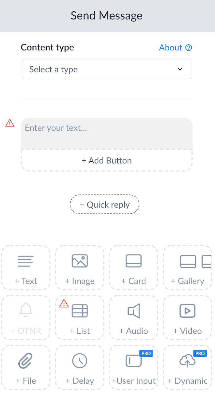 ejemplo de chatbot de comercio electrónico