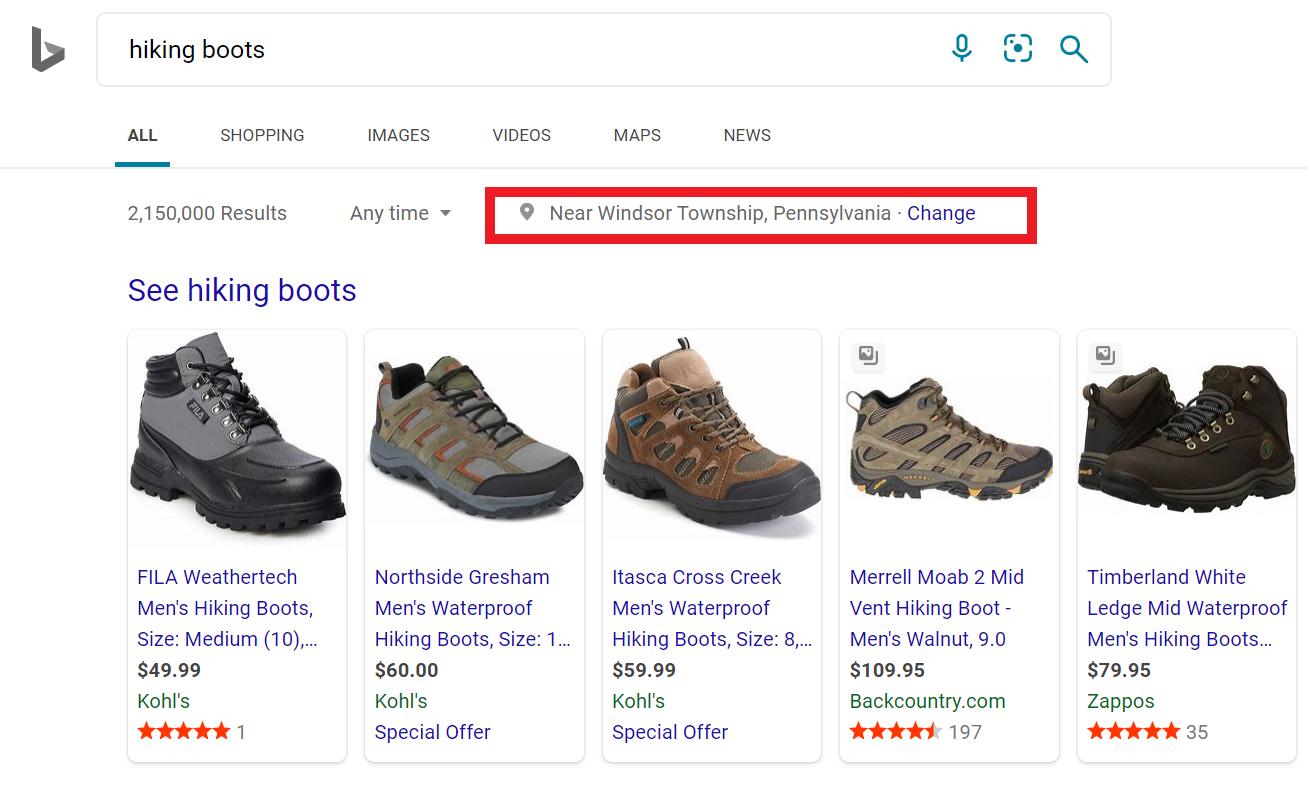 Ejemplo de anuncio de campaña de Bing Shopping: cómo configurar campañas de Microsoft Bing Shopping para empresas de comercio electrónico