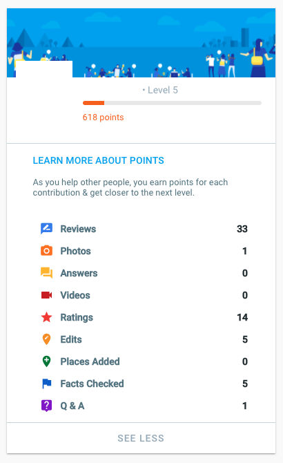 ejemplo de perfil de guías de google