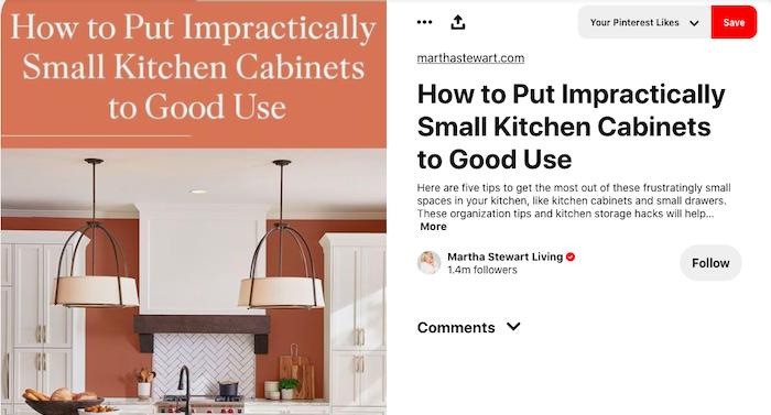 Ejemplo vivo de comercio electrónico de Martha Stewart