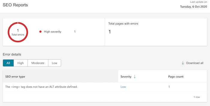 Informe SEO en Bing Analytics