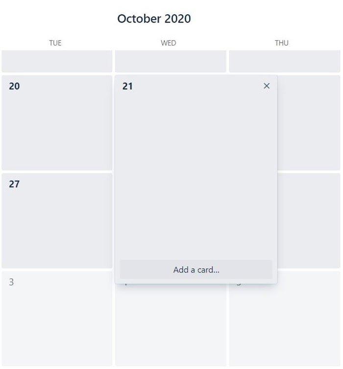agregar una tarjeta en el calendario de marketing de trello