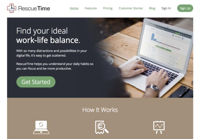 """Determine los artículos a subcontratar con el software de gestión de tiempo RescueTime """"width ="""" 700 """"height ="""" 483"""