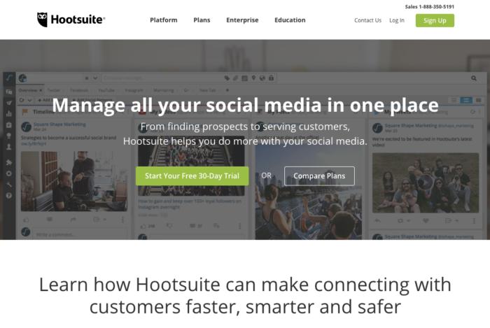 """Automatizar el panel de gestión de marketing de redes sociales de Hootsuite 1 """"ancho ="""" 700 """"alto ="""" 469"""