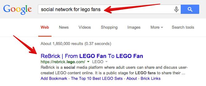 sitios de redes sociales para fanáticos de lego