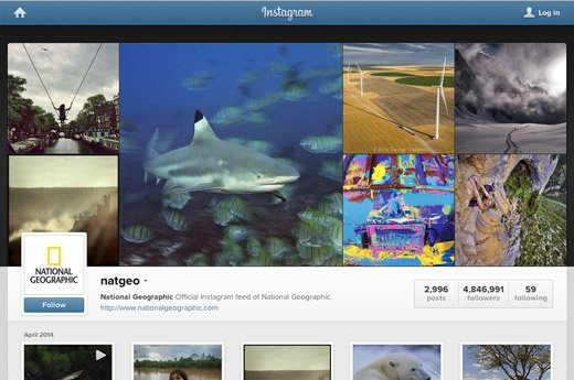 national Geographic en instagram