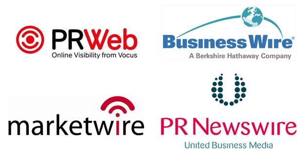 logotipos de comunicados de prensa de calidad