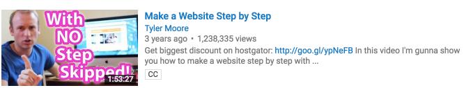 muestra en miniatura de vistas de youtube