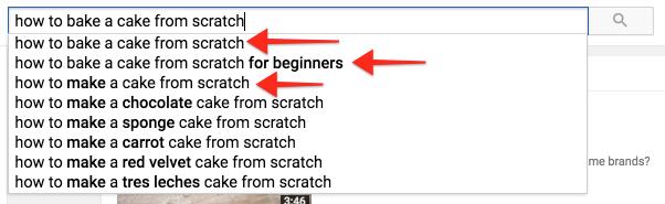 buscar términos clave para obtener más vistas de Youtube