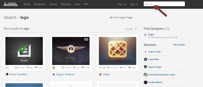 créer un site Web obtenir une capture d'écran du logo dirbble