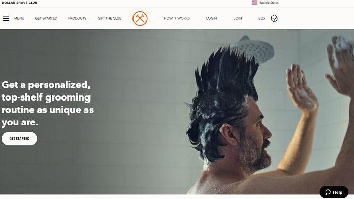 Ejemplo de propuesta de valor de Dollar Shave Club