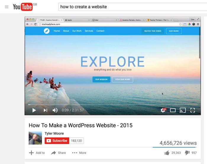 vistas de youtube