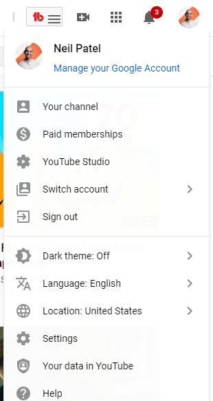 ejemplo de youtube analytics studio