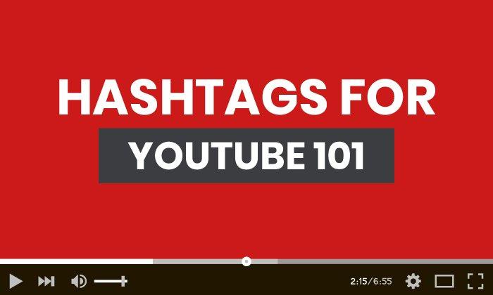 Hashtags para YouTube 101