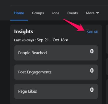 cómo acceder a las estadísticas de Facebook