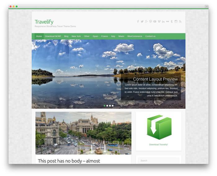 tema de wordpress travelify gratis
