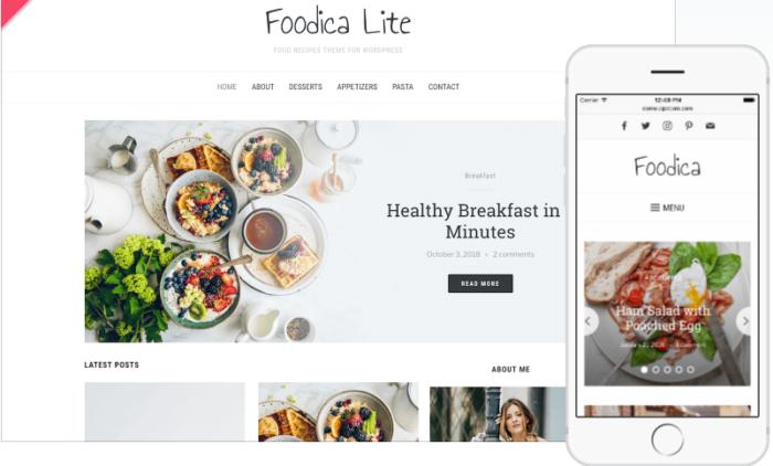 tema de wordpress de foodica gratis
