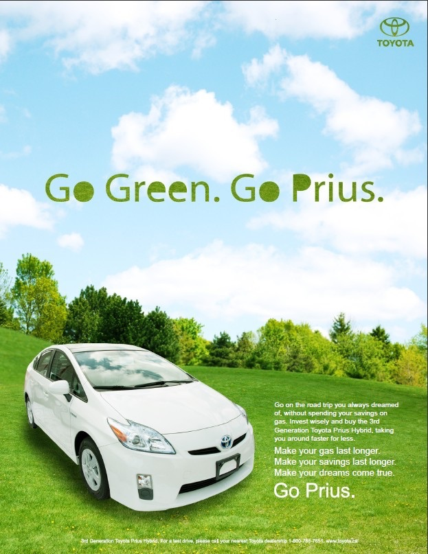 Ejemplo de marketing conductual del Toyota Prius