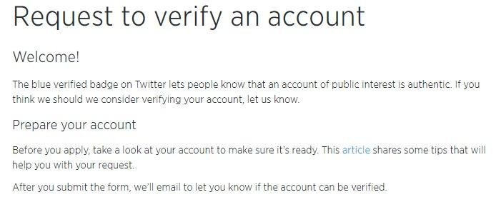 ser verificado en Twitter