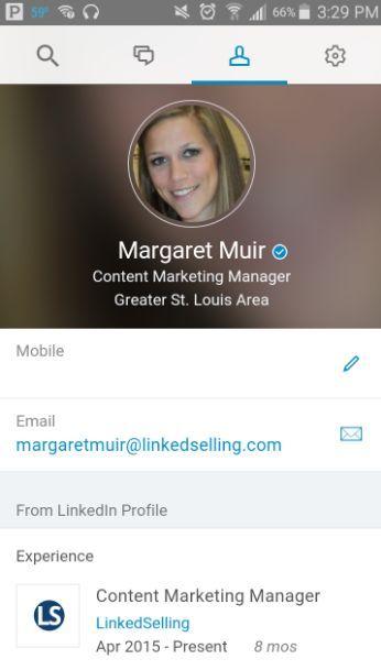 ser verificado en redes sociales Ejemplo LinkedIn