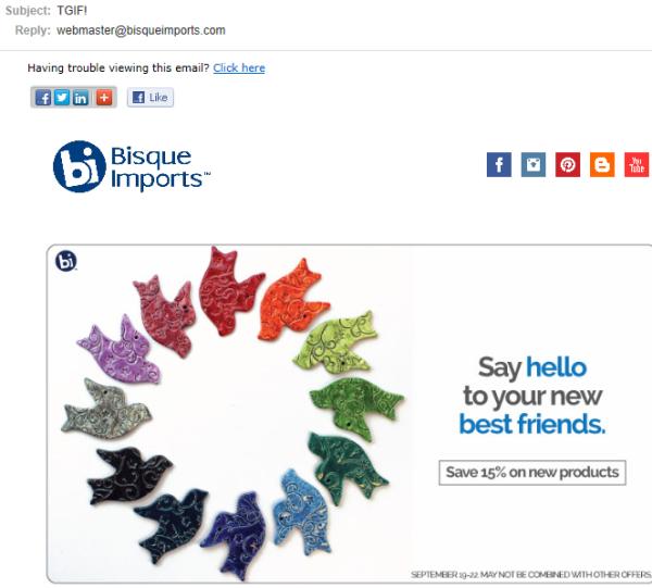 Importaciones de bisque de muestra   Cómo escribir un correo electrónico para clientes