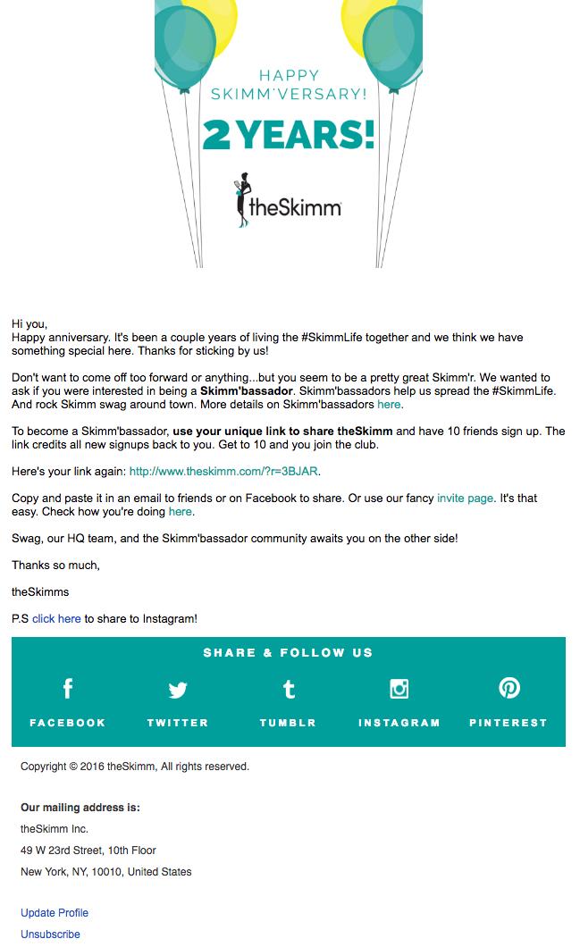 ejemplo de correo electrónico skimm   Cómo escribir un correo electrónico para los clientes