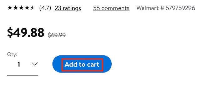 Caja de compras Walmart Market