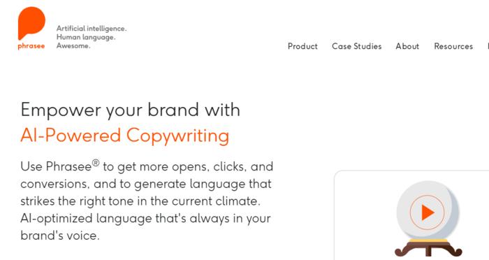 Descubra cómo redactar el texto de un anuncio con la herramienta de escritura Phrasees AI