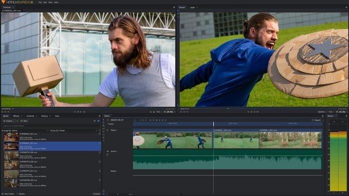 software de edición de video gratuito hitfilm express