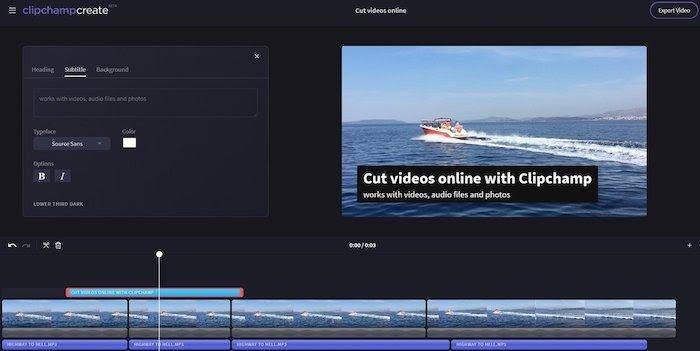 software de edición de video gratuito clipchamp