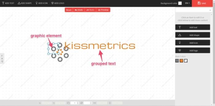 diseños de kissmetrics ejemplo de logotipo gratis