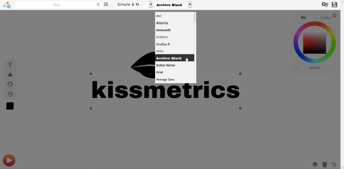 archivo fuente selección negro diseño de logotipo gratis