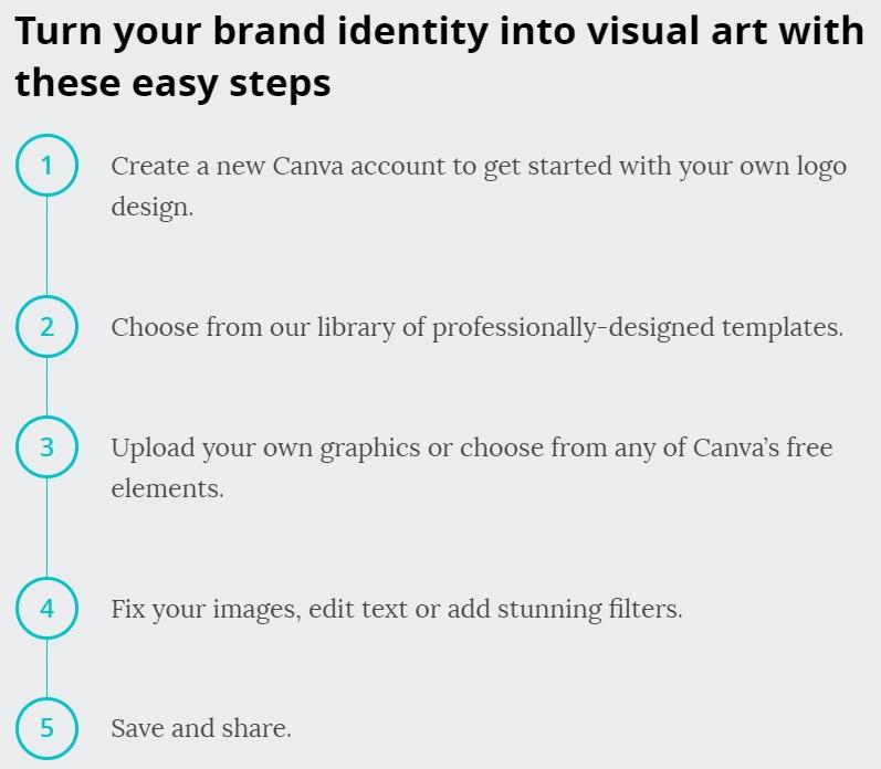 crea un logo en cinco pasos en canva