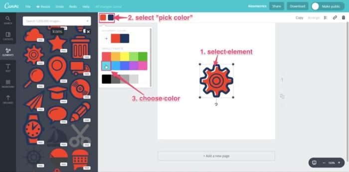 cambio de color del logotipo de la marca canva gratis