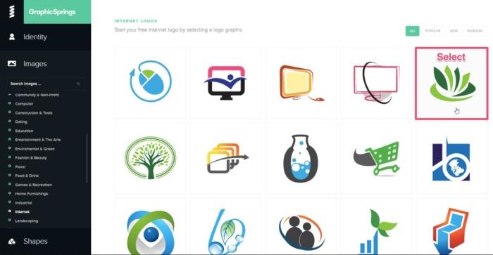 logo gratis en el resorte gráfico