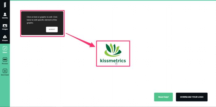 seleccionar elementos para el logotipo de la marca gratis