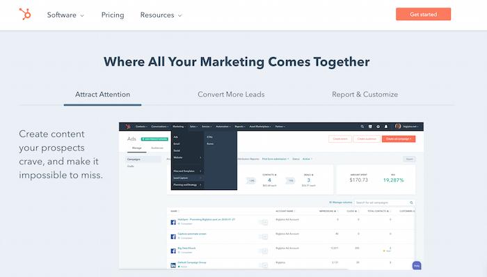 Ejemplo de automatización de comercio electrónico Opciones de gestión de contenido de marketing con HubSpot