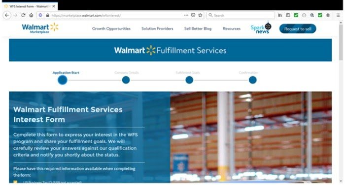 alternativas al formulario de interés de amazon walmart