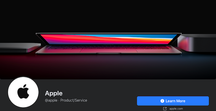 "Foto de portada de Facebook de Apple Awesome ""class ="" wp-image-99574 ""srcset ="" https://improvvisa.es/wp-content/uploads/2020/11/1606708353_983_Como-crear-las-mejores-fotos-de-portada-de-Facebook-para.png 700w, https: //neilpatel.com/wp-content/uploads/2020/11/Apple-Awesome-facebook-cover-photo-350x181.png 350w ""tamaños ="" (ancho máximo: 700px) 100vw, 700px"