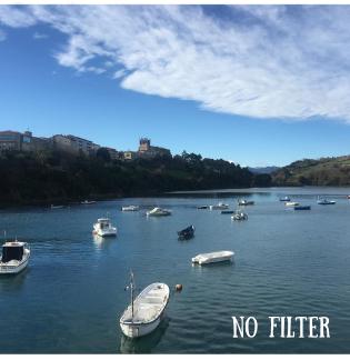 Foto de Instagram sin filtrar de barcos en el agua