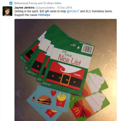 hashtag de campaña de correo directo de twitter