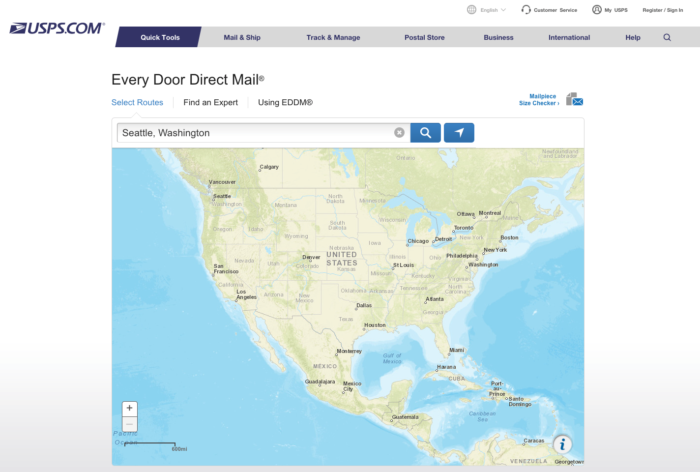 Correo directo de destino de USPS