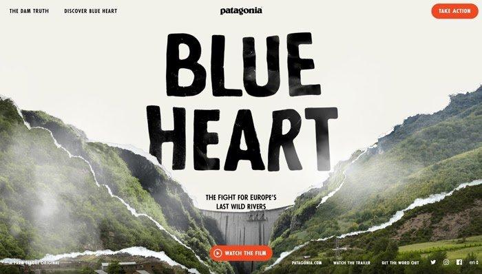 Micrositio del corazón azul patagónico