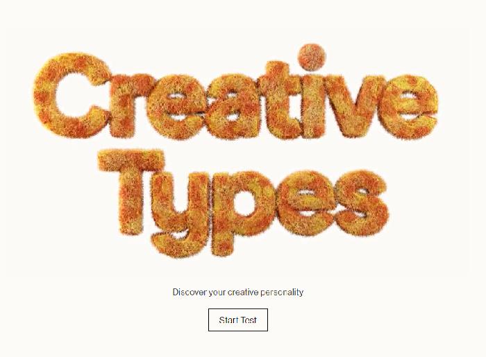 Mi página de inicio del micrositio de Creative Type