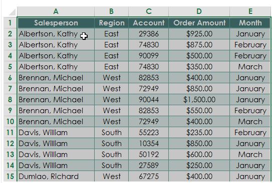 crear una tabla dinámica seleccionar datos