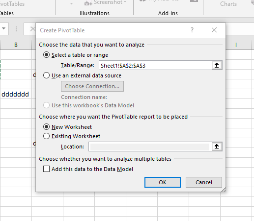 agregar datos de tabla dinámica