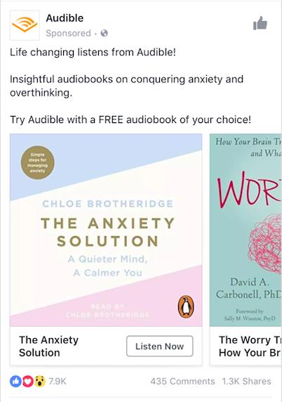 Ejemplo de anuncio audible para móviles